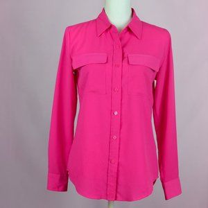 Hot pink button down shirt